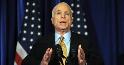 McCain called on the government in Minsk to immediately release Ales Byalyatski