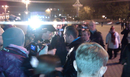 Action of solidarity in Minsk - two was detained - photo