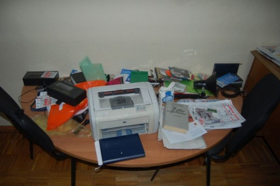 Minsk office of Radio Racyja was smashed up - photo