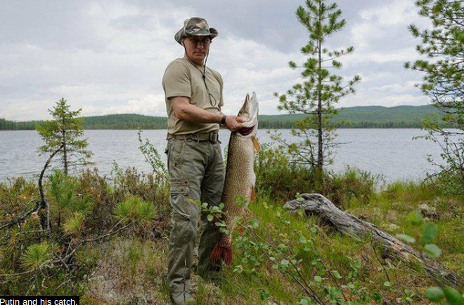 Belarus's fisherman-President boasts of catching 57-kilogram catfish