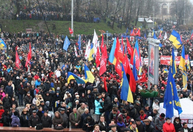 Opposition protest actions to continue in Kiev today - photo and video