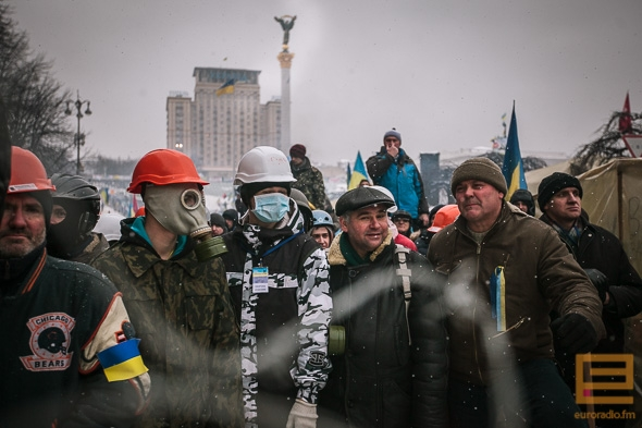 In pictures: Police in Kyiv city center