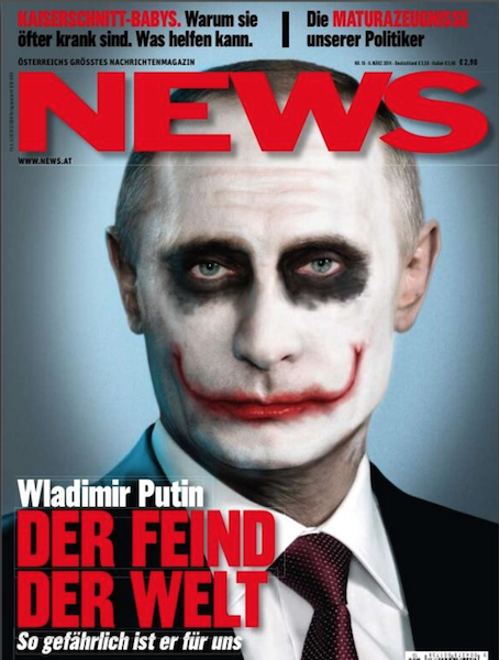 Putin's portrayal in western media: Hitler, clown and madman