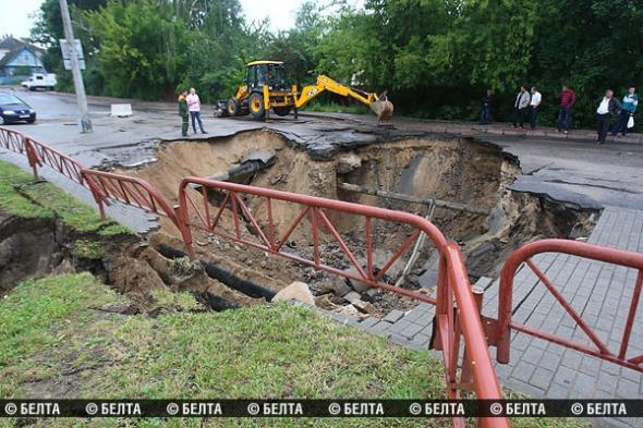 In pictures: flooded Hrodna