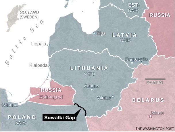 The Washington Post: This tiny stretch of countryside is all that separates Baltic states from Russian envelopment