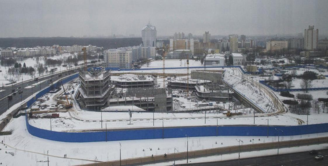 Gazprom tower construction in Minsk frozen over foundation defects - reports