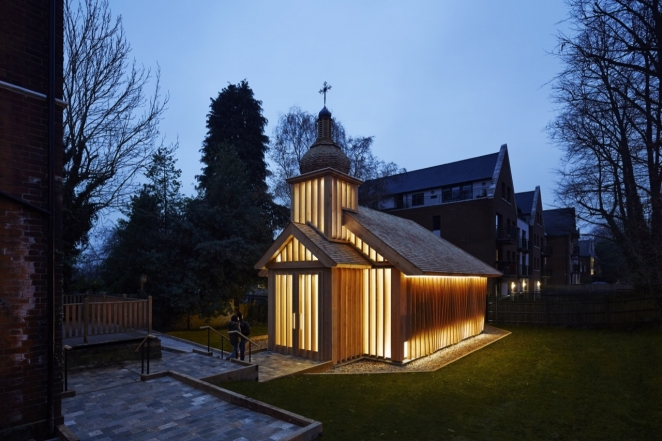 Belarusian wooden chapel in London up for prestigious British award