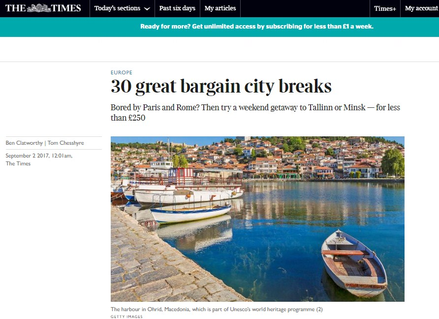 The Times names Minsk among 30 great bargain city breaks for brits